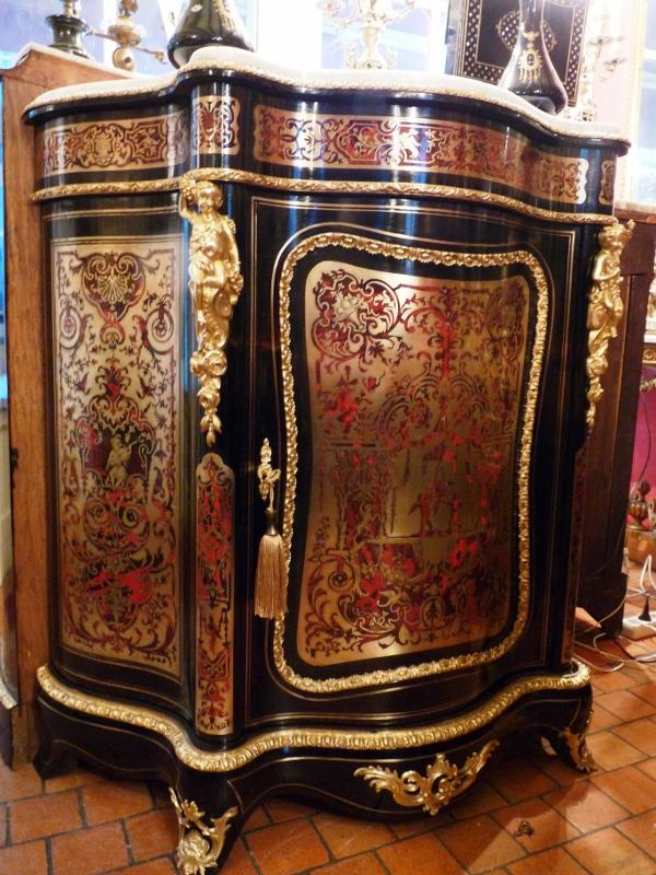 meuble appui galb 1 porte en marqueterie boulle toutes faces art et antiques. Black Bedroom Furniture Sets. Home Design Ideas