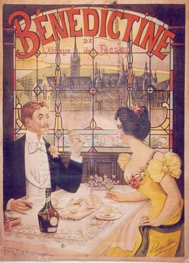 Affiche liqueur Bénédictine - Fécamp