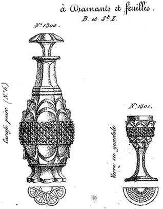 Carafe et verre ananas Charles X