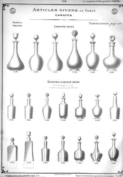 Carafes à liqueur unies