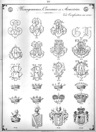 Monogrammes et armoiries